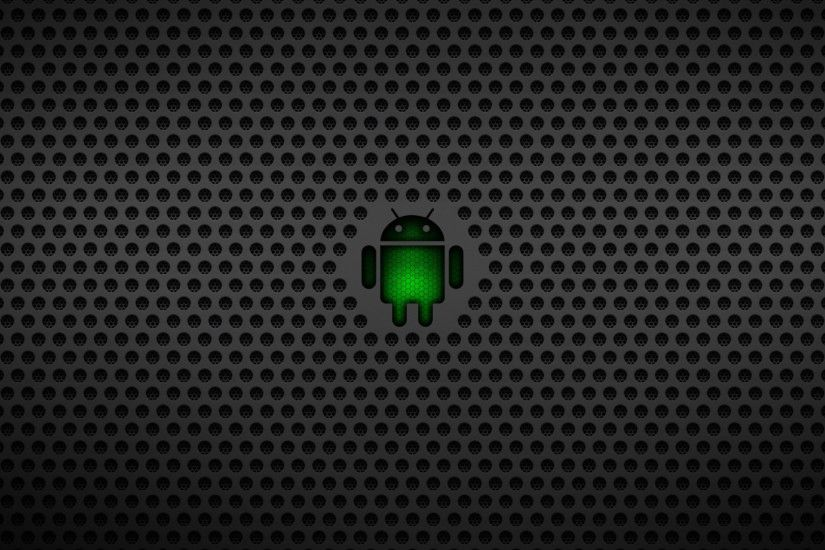 Preview wallpaper android, operating system, os, green, black, mesh  1920x1080