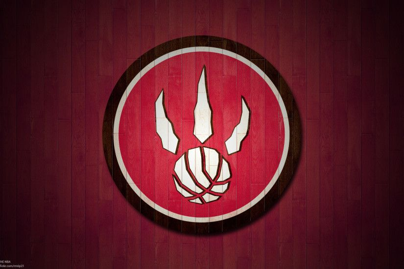 NBA 2017 Toronto Raptors hardwood logo desktop wallpaper
