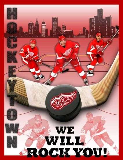 Detroit Red Wings Poster by lagoulue21 Detroit Red Wings Poster by  lagoulue21