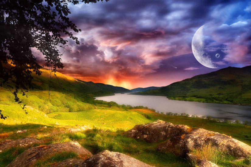 Fantasy - Landscape Dreamy Dawn Wallpaper