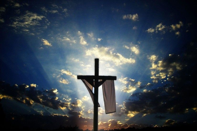 Christian Cross With Jesus Christ In Beautiful Sunrise Wallpapers
