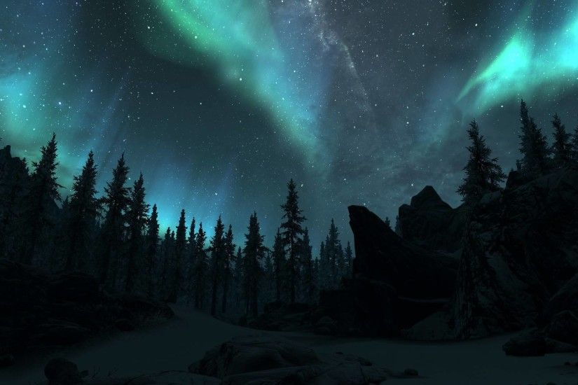 northern lights - Skyrim Wallpaper