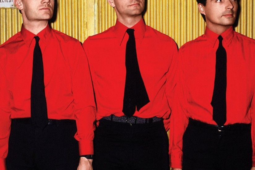 2048x2048 Wallpaper kraftwerk, band, members, ties, wall