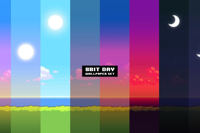 UPDATE: New version of the '8Bit Day' Wallpaper Set. Pixel wallpaper changes