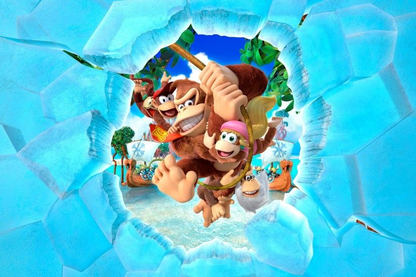 Pictures for Desktop: donkey kong country tropical freeze wallpaper (Ginger  Birds 1920x1200)