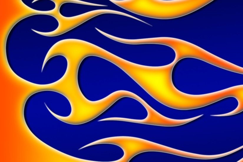 Preview wallpaper fire, gold, background, patterns 2048x2048