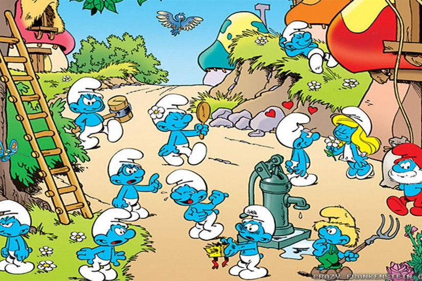 Wallpaper: Village the Smurfs Resolution: 1024x768 | 1280x1024 | 1600x1200.  Widescreen Res: 1440x900 | 1680x1050 | 1920x1200