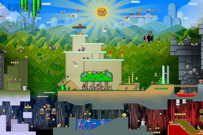Super Mario World HD Pulchritudinous Wallpaper.