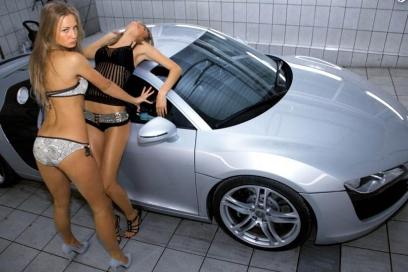 Girls with audi cool wallpapers hd 1080p Wallpaper
