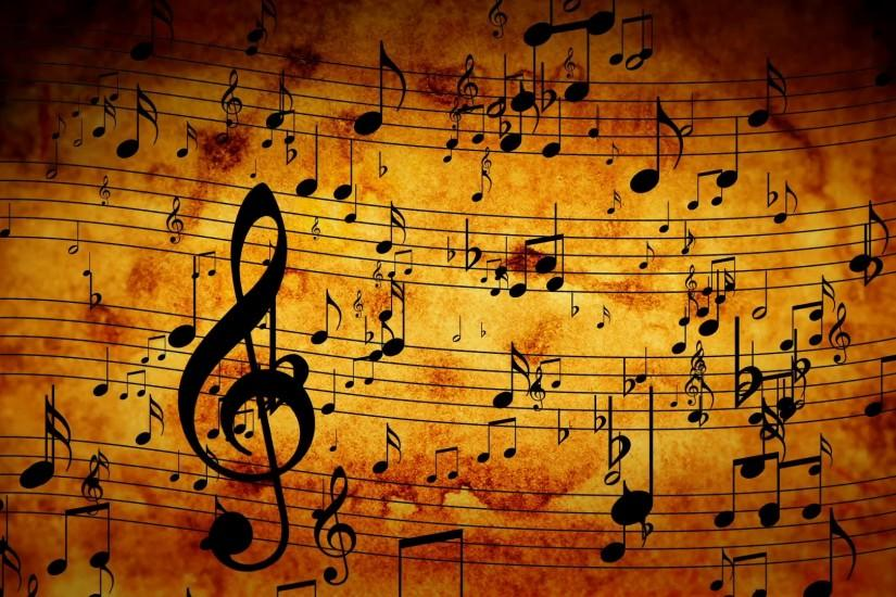 download music notes background 1920x1080