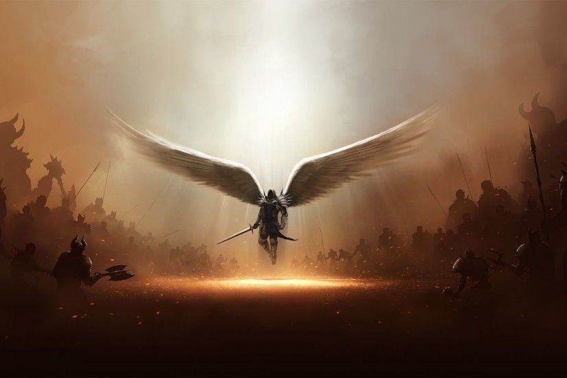 Desktop Angel Warrior Wallpaper