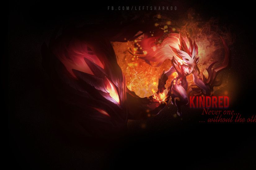 ... Kindred wallpaper League of Legends by LeftLucy