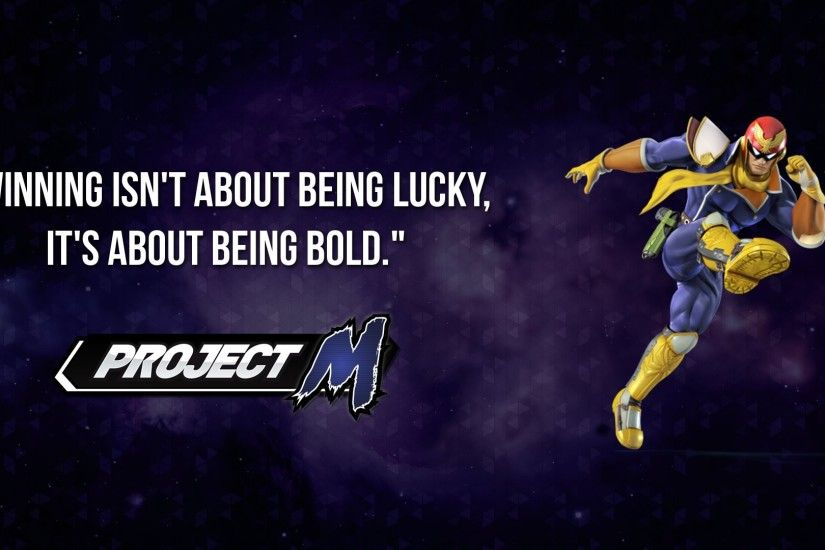 I made myself a Project M Captain Falcon wallpaper, thought I might as well  share it here.