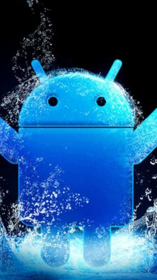 Blue Android LOGO 04 Galaxy S5 Wallpapers HD