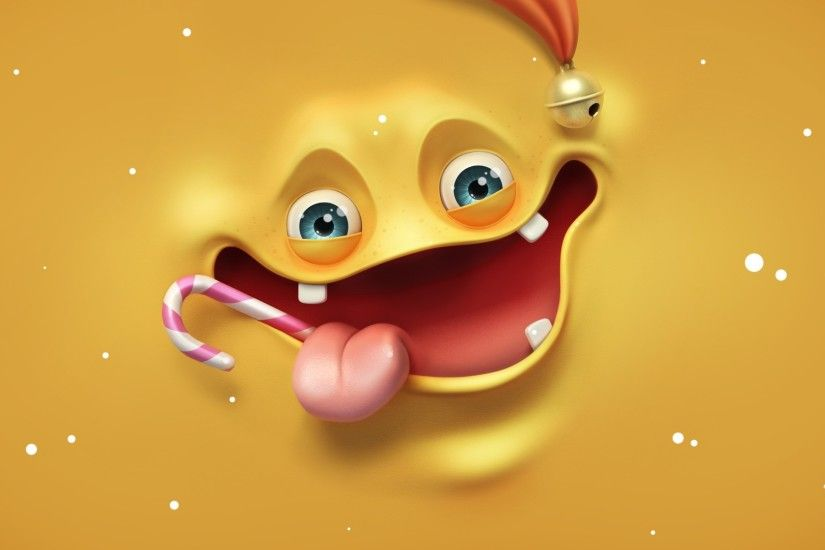 1920x1080 Wallpaper face, happy, render, language, candy