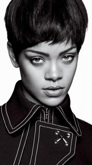 Preview wallpaper rihanna, singer, celebrity, style, bw 1080x1920