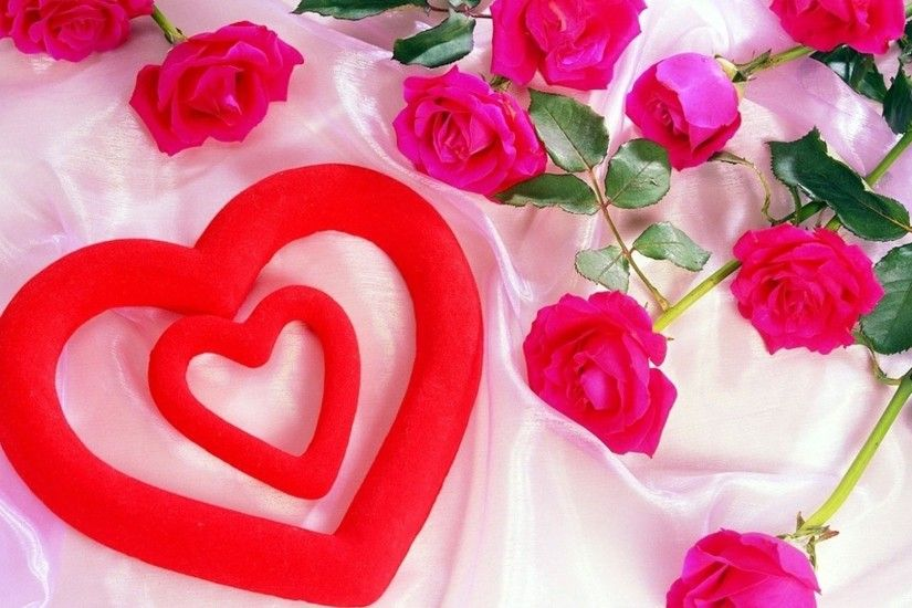Love Roses And Hearts Wallpapers Beautiful-Cute-Red-Heart-Girl-Love