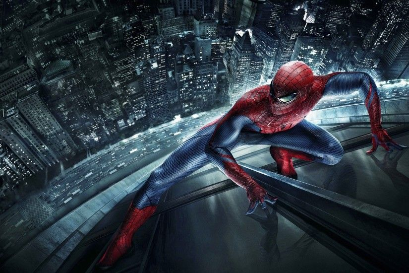 Buildings Climbing Night Peter Parker Spider-Man The Amazing Spider-man