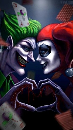 The Joker and Harley Quinn iPhone case