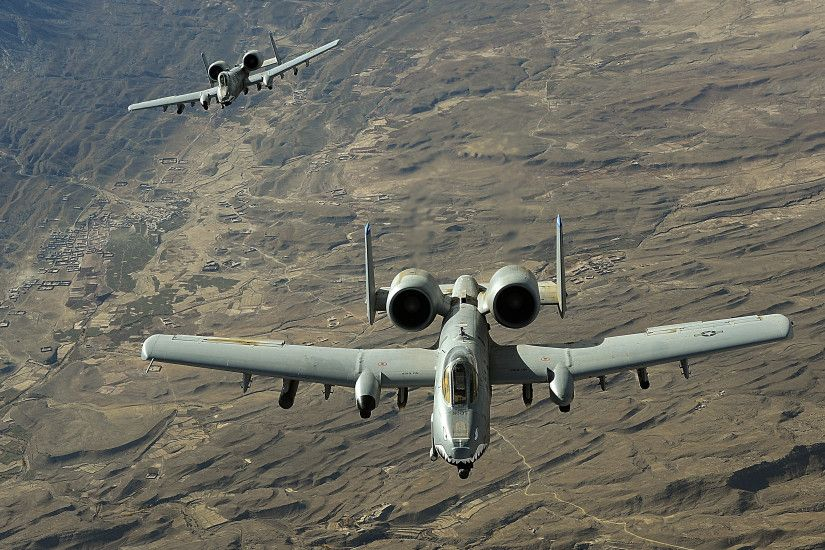 Planes Military A-10 Thunderbolt II Warthog War Deserts Aircraft ...
