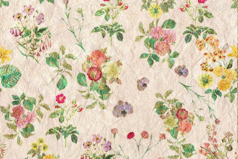 Vintage Flowers Wallpaper Pattern