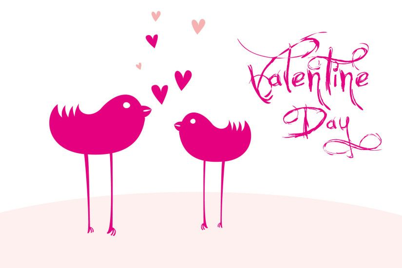Cute Pink Happy Valentine Day Wallpaper HD Wallpaper