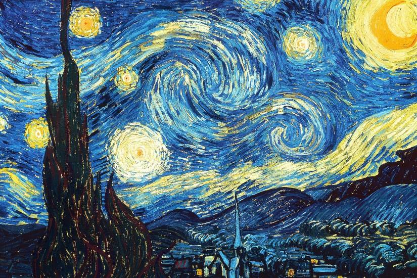 Wide The Starry Night wallpapers and stock photos