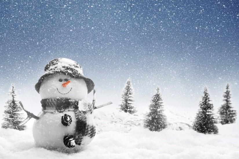 Snowman Wallpaper In Winter Photos Of Free Christmas