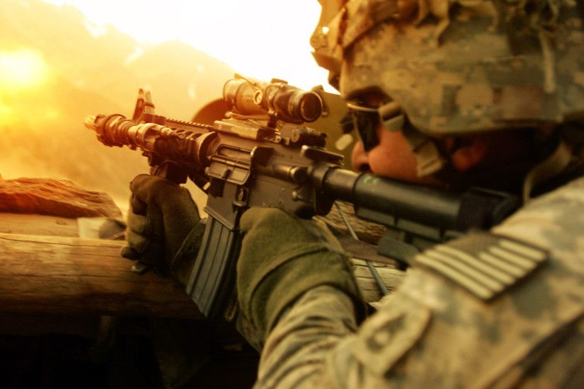 American Soldier With His Rifle Wallpapers HD / Desktop and Mobile  Backgrounds