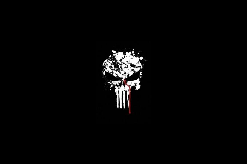 The Punisher Skull, Black Background 1920x1080 (1080p) - Wallpaper .