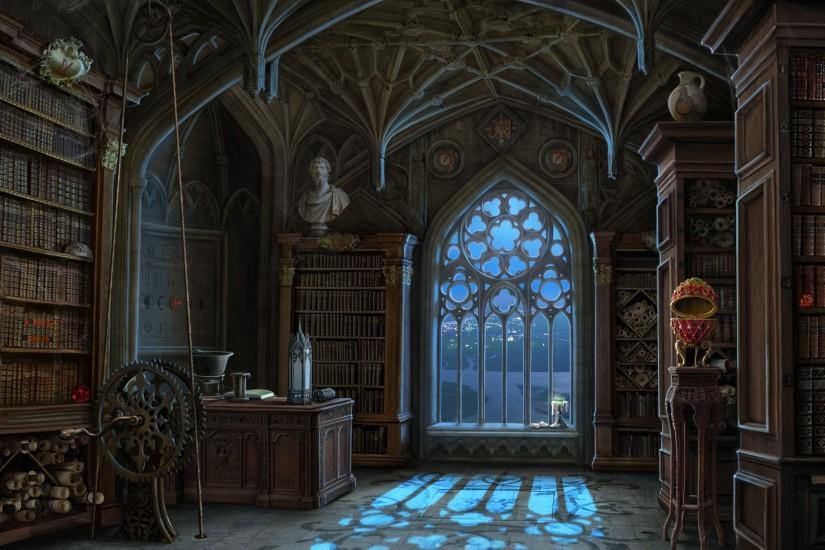 "ArtStation - Library background and miniscenes for ""Curse at Twilight:  Shadowbrook"" game, Olga Antonenko"