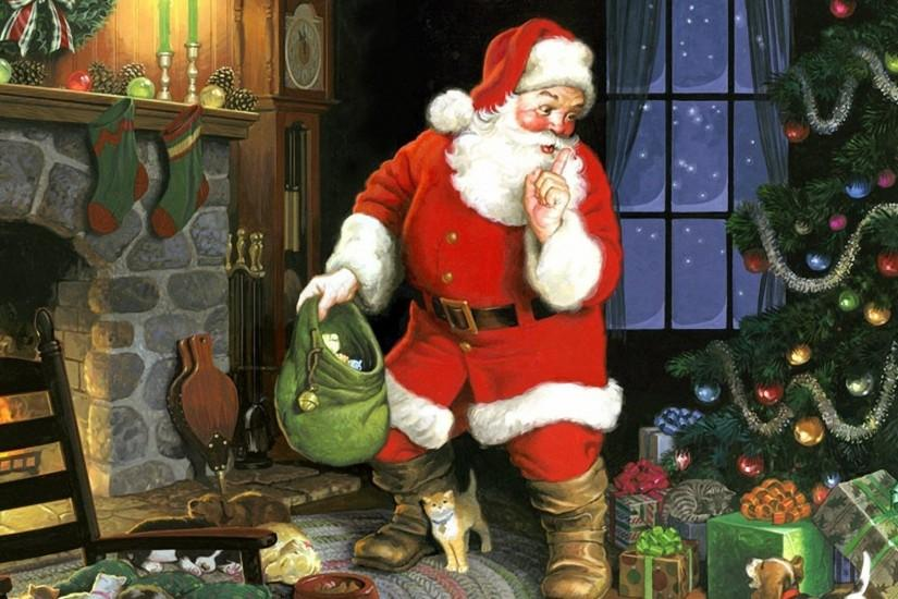 Santa Claus Ssst On Christmas Wallpaper Pictur #13920 Wallpaper .