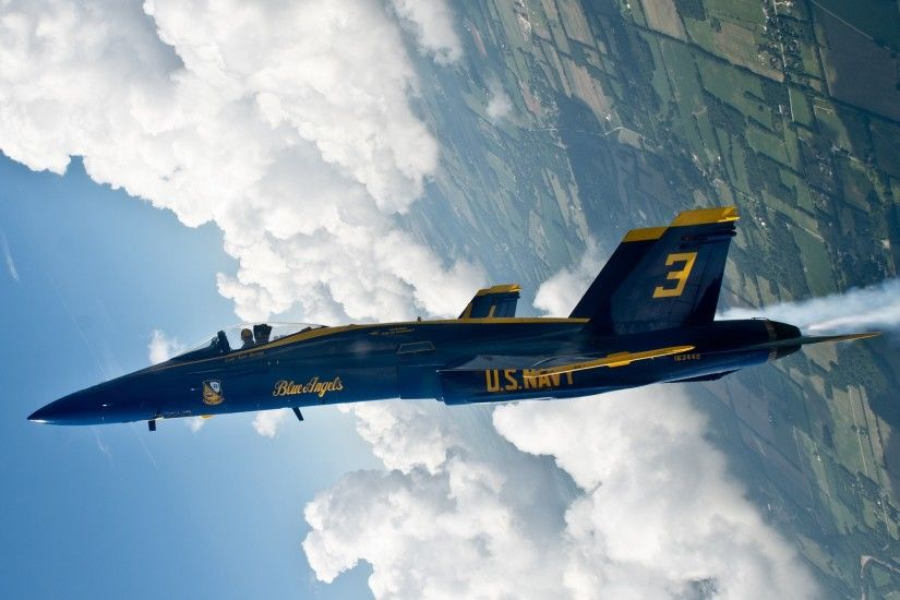 military, Military Aircraft, McDonnell Douglas F A 18 Hornet, US Air Force, Blue  Angels, Clouds Wallpaper HD