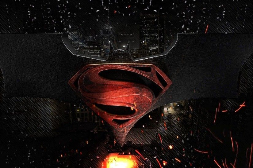 Gallery for - batman vs superman logo wallpaper