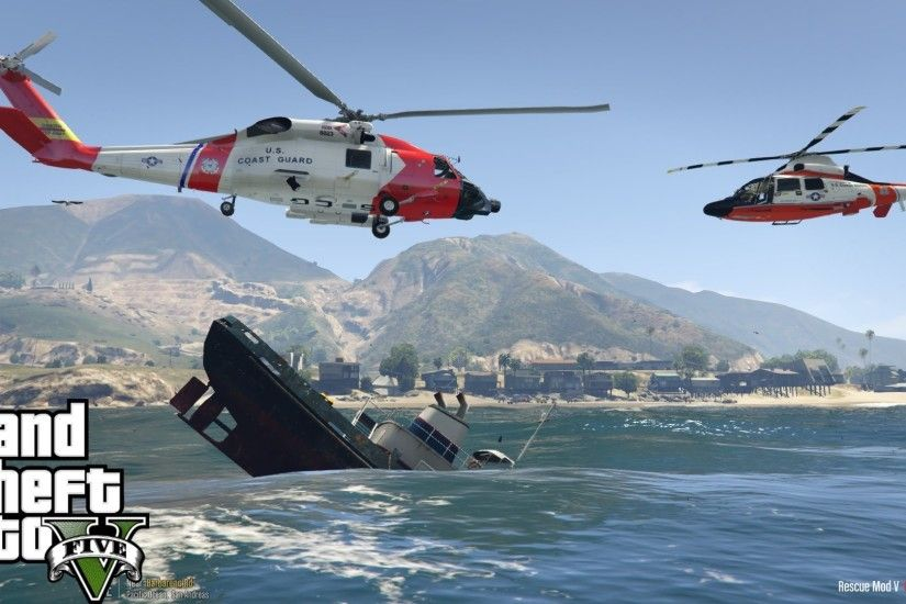 GTA 5 | Rescue Mod V | United States Coast Guard | HH-60J Jayhawk & HH-65  Dolphin | Failed Rescue - YouTube