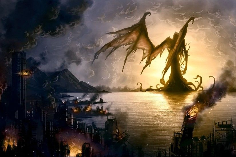 fantasy Art, Demon, Destruction Wallpapers HD / Desktop and Mobile  Backgrounds