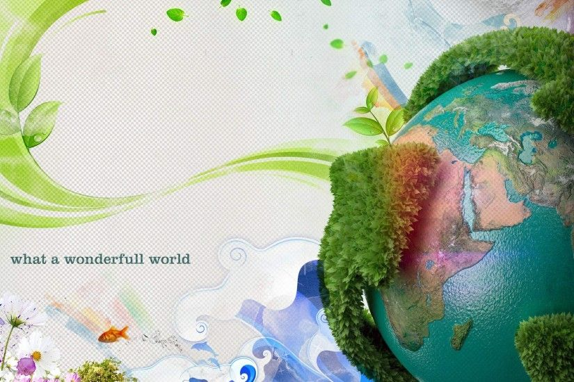 Earth Day Wallpaper Abstract 3D