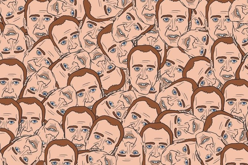 Preview wallpaper nicolas cage, texture, portrait, face 3840x2160