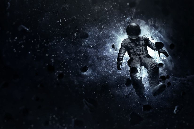 The astronaut is lost in space