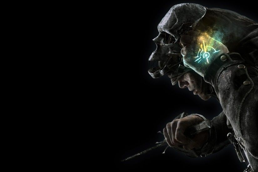 tattoos minimalistic assassins steampunk magic dishonored black background  corvo attano 1920x1200 Wallpaper HD