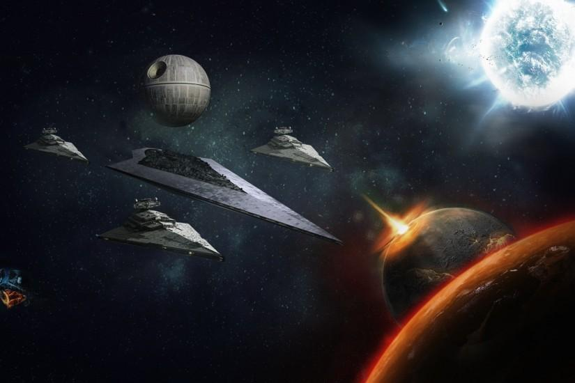 Star Wars, death star, fantasy, game, planet, space, starship,