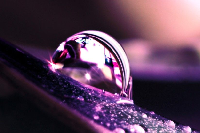Macro Photography Water Droplets Wallpaper Desktop