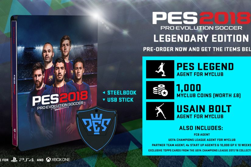 A PES Legend player will be exclusively available to add to the burgeoning  Master League and myClub squads, while the world's fastest man - Usain Bolt  - is ...