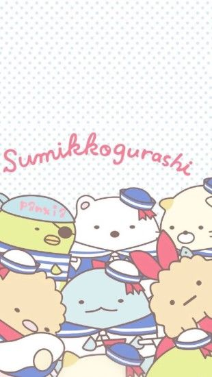 Sumikko gurashi sailors phone wallpaper