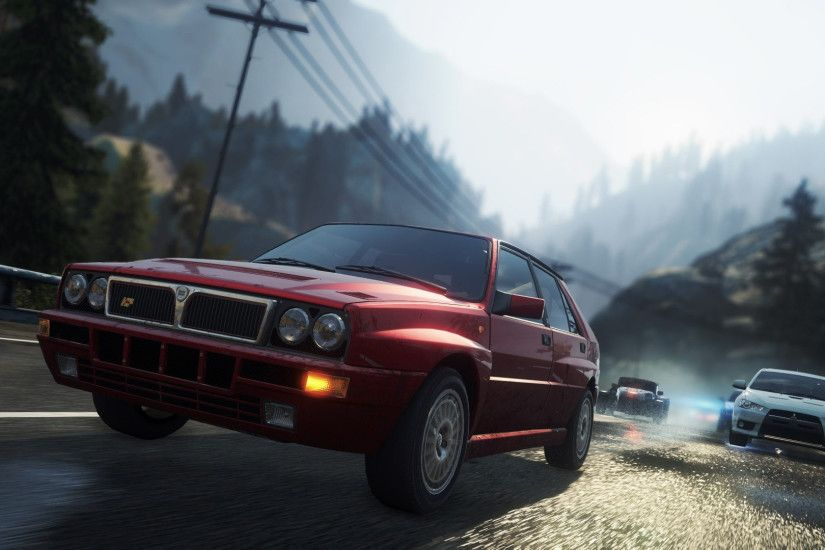 need for speed most wanted 2012 lancia delta hf integrale evo 2 widescreen  hd wallpaper