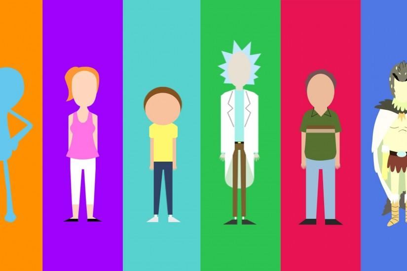 free rick and morty background 1920x1080