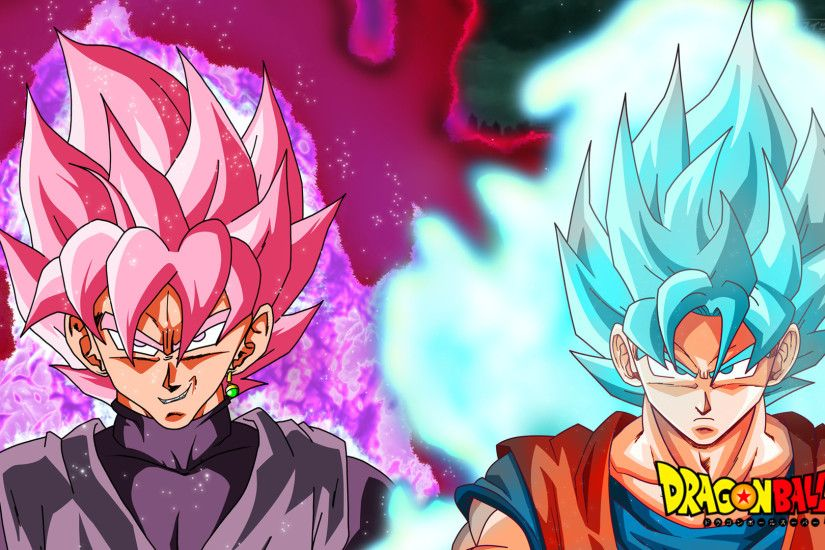 ... DragonBallAffinity Super Saiyan Rose vs SSJBlue Wallpaper by  DragonBallAffinity