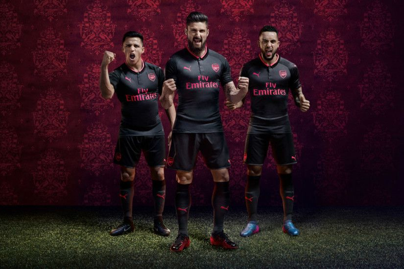 ... ARSENAL 3rd LONG SLEEVE JERSEY 2017-2018 ...