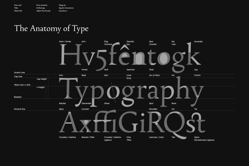 """Font Anatomy"" Wallpaper by Sigurdur Armannsson. Full size download: http:/"