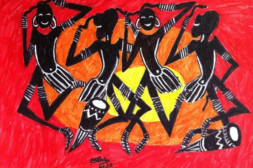 Africa, Arts, Paintings, African Art, Dance, Dancers, African Art Paintings
